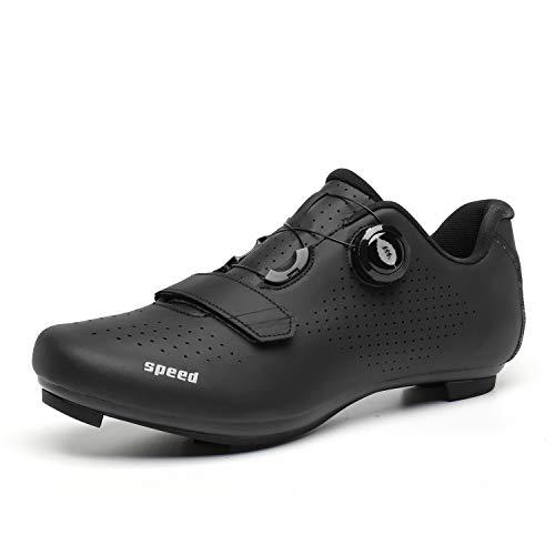Zapatillas de Ciclismo Zapatillas MTB para Hombre Zapatillas de Bicicleta de Carretera Zapatillas de Ciclismo Deportivas Completas Zapatillas de Ciclismo de Carretera Negro 39
