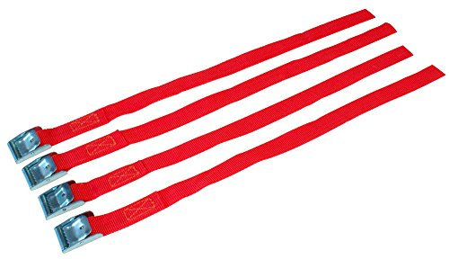 Cora 1068270 - Juego de 4 Tacos de Repuesto con Hebilla metálica para Fijar Las Ruedas a los portabicicletas, Rojo, 38 cm, Juego de 4