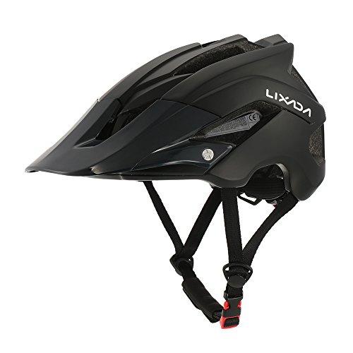 Lixada Casco de Ciclismo de Montaña Casco Protector Ultraligero de Seguridad Deportiva 13 Orificios de Ventilación (Negro)