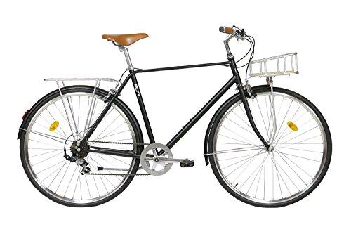 Fabric City Classic-Bicicleta de Paseo (L-58cm, Classic Matte Black Deluxe)