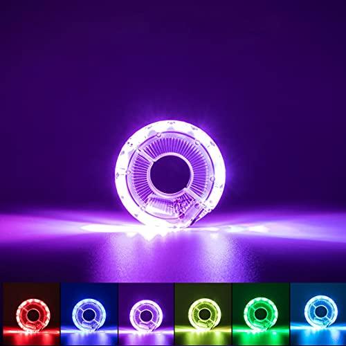 Koamke LED Luces de Rueda de Bicicleta,7 Colores,33 Modos,USB Luces de Rueda de Bicicleta,Bicicleta de Rueda LED Impermeable para Paseo en la Noche para Accesorios de Bicicleta Luces