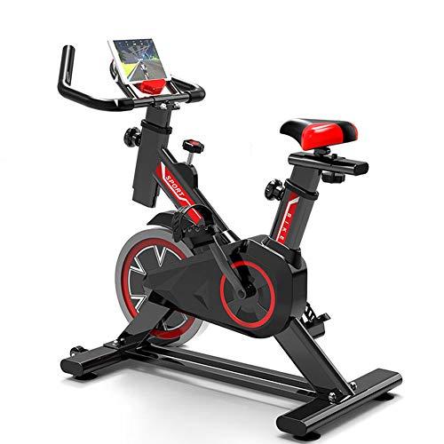 WuoooLi Bicicleta de Spinning, Asiento Ajustable,con Pantalla LCD,Equipo de Entrenamiento de Entrenamiento Cómodo Cojín Sillín Unisex,para Gimnasio de Oficina en Casa … (B) EEUK