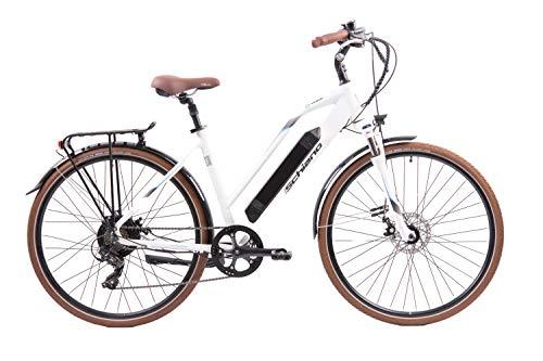 F.lli Schiano E- Voke Bicicleta, Adulto Unisex, Blanca, 28 ''