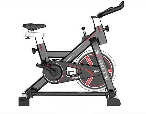 MUGAR Bicicleta Estática Spinning MG-400, Fitness Spinning Bike Aerobic Home, silenciosa con pantalla táctil, diferentes resistencias PARA PERSONAS HASTA 1.75 M ALTURA (MG-400 NEGRA)