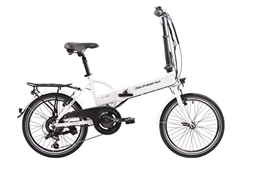 F.lli Schiano E- Sky Bicicleta eléctrica Plegable, Unisex Adulto, Blanca, 20