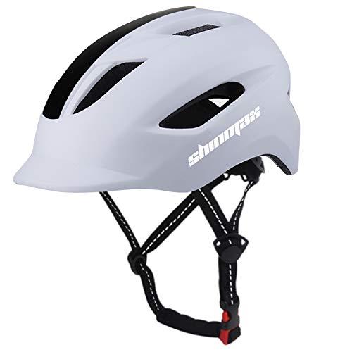 Shinmax Casco Bicicleta,Certificación CE,con luz Trasera LED y Diseño de Cinturón de Seguridad Reflectante,Montar Ski & Snowboard Casco Unisex Cascos Bici Adultos,Cascos Bicicleta Carretera 57-62CM