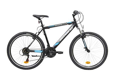 F.lli Schiano Range Bicicleta Montaña, Men's, Negro-Azul, 26''
