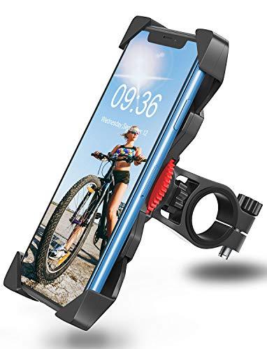 Bovon Soporte Movil Bicicleta, Anti Vibración Soporte Movil Bici Montaña con 360° Rotación para Moto, Universal Manillar Compatible con iPhone 12/12 Pro/12 Mini/11 Pro Max y 3.5