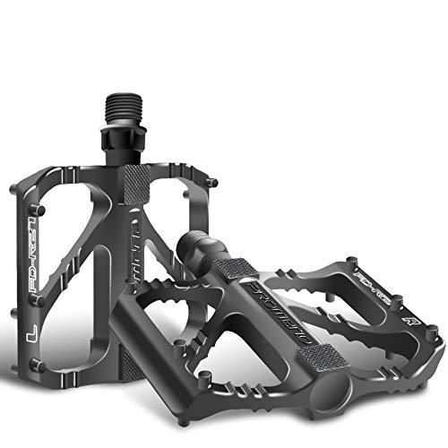 Sugelary Pedales Bicicleta, Pedales Bicicleta Montaña de Aleación de Aluminio Pedal DU 9/16