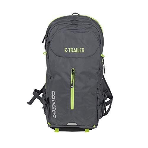 8TIMES3 - Mochila para bicicleta eléctrica, ideal para transportar baterías de bicicleta eléctrica, para el trabajo o el tiempo libre, color negro y verde neón