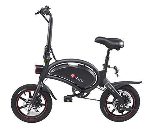 Bicicleta Eléctrica Plegable Adulto Dyu D3 +, Cuerpo de Aluminio, Neumáticos 14