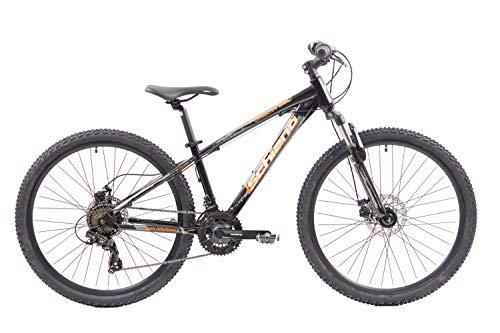 F.lli Schiano Ghost Pro Bicicleta MTB, Hombre, Negro-Naranja, 26''