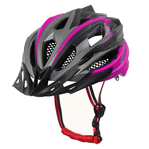 X-TIGER Bicicleta Casco Adulto Unisexo con Certificado CE,Visera y Forro Desmontable Especializado para Ciclismo de Montaña (Rosa)