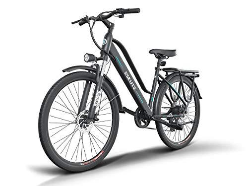 ESKUTE 28'' E-Bike Bicicleta Eléctrica de Trekking Holandesa para Adultos Unisex, Batería de Litio Extraíble 36V10Ah, 250W Motor Trasero, Compañero Fiable para el día a día