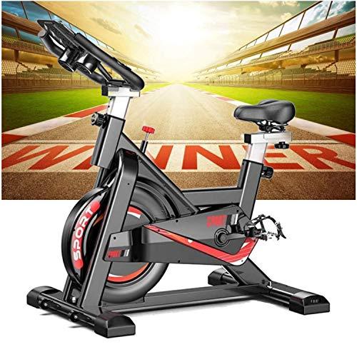Bicicleta estática Ciclo Indoor. Bici spinning, Volante de Inercia 24 kg, Nivel Avanzado, Sistema de Absorción de Impactos, Sillín ajustable, pulsómetro,Pantalla LCD, Fitness