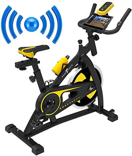 Nero Sport Bluetooth Bicicleta de Ejercicios Aeróbicos Spinning para Interiores Bicicleta Estática de Entrenamiento Fitness Ejercicios Cardiovasculares