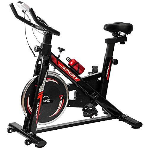 TLV BS2 Bicicleta Estatica de Spinning Bici Ejercicio Gym Casa Indoor Fitness Volante 10kg
