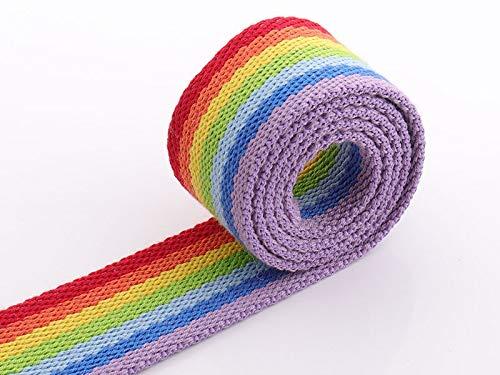 Cinchas Cinta de correas de algodón 5 yardas de cinta de cinta del arco iris de 38 mm de la correa de la correa de la correa de la correa de la correa de la correa de la correa de la correa correa de