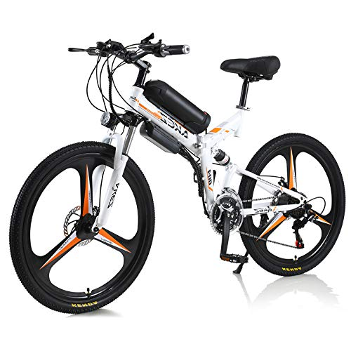 Bicicleta eléctrica Hyuhome 250W 36V Bicicleta de montaña eléctrica para Adultos, Bicicleta eléctrica de 26
