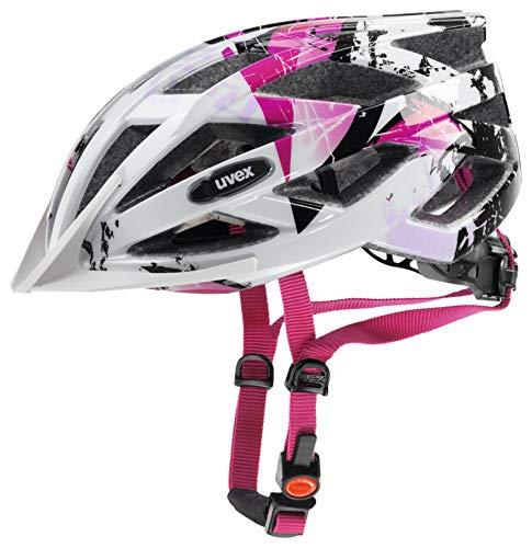 Uvex Air Wing Casco de Bicicleta, Unisex-Adult, White-Pink, 56-60 cm