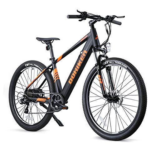 LOKEEVAN Bicicleta eléctrica 27,5 con batería de iones de litio de 36 V y 10 Ah, 250 W, 7 velocidades, para adultos